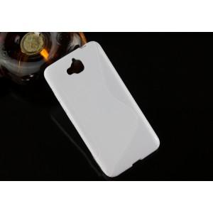 Силиконовый S чехол для Huawei Honor 4C Pro Белый