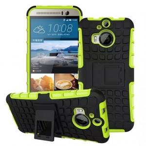Антиударный силиконовый чехол экстрим защита с подставкой для HTC One M9+ Зеленый