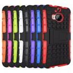 Антиударный силиконовый чехол экстрим защита с подставкой для HTC One M9+