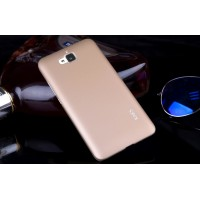 Пластиковый матовый непрозрачный чехол для Huawei Honor 4C Pro Бежевый