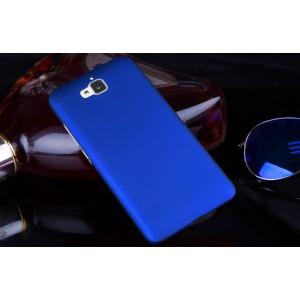 Пластиковый матовый непрозрачный чехол для Huawei Honor 4C Pro Синий