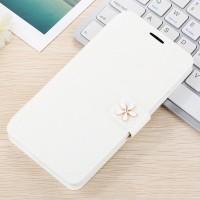 Текстурный чехол флип с дизайнерской застежкой и отделением для карт для Huawei Honor 4C Pro Белый