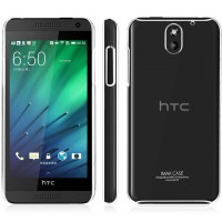 Пластиковый транспарентный олеофобный премиум чехол для HTC Desire 610
