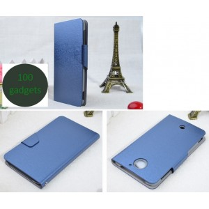 Чехол флип подставка текстурный на пластиковой основе с магнитной застежкой для Acer Liquid S2