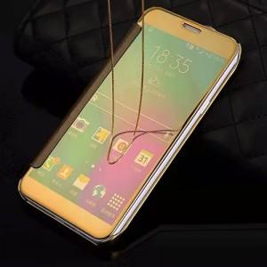 Двухмодульный пластиковый чехол флип с полупрозрачной акриловой крышкой с зеркальным покрытием для Samsung Galaxy A5 (2016)