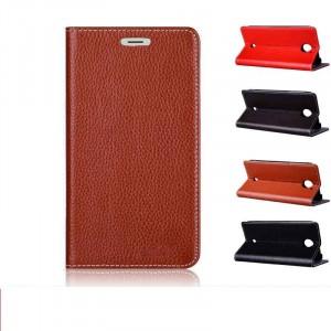 Кожаный чехол портмоне подставка на присосках (нат. кожа) для Acer Liquid S2