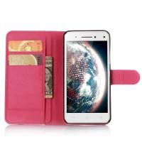 Чехол портмоне подставка с защелкой для Lenovo Vibe S1 Пурпурный