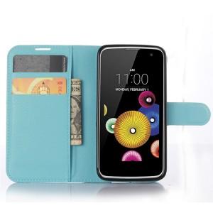 Чехол портмоне подставка с защелкой для LG K4