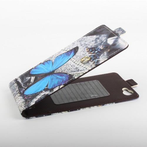 Чехол вертикальная книжка на клеевой основе с магнитной застежкой и полноповерхностным принтом для Oukitel K6000