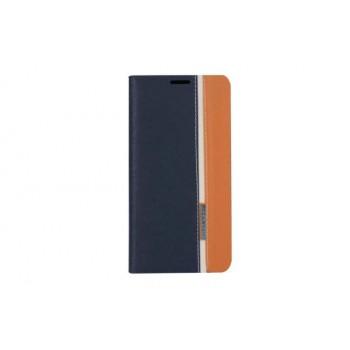 Чехол флип подставка на силиконовой основе с отделением для карты с тканевым покрытием для LG K10