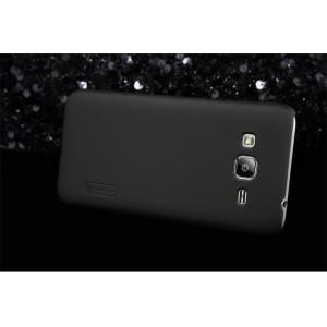 Пластиковый матовый нескользящий премиум чехол для Samsung Galaxy J1 (2016) Черный