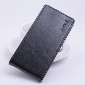 Глянцевый чехол вертикальная книжка на клеевой основе с магнитной застежкой для Oukitel K6000 Черный