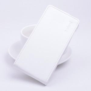 Глянцевый чехол вертикальная книжка на клеевой основе с магнитной застежкой для Oukitel K6000 Белый