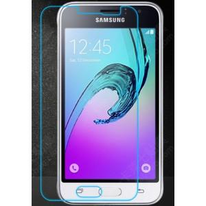 Ультратонкое износоустойчивое сколостойкое олеофобное защитное стекло-пленка для Samsung Galaxy J1 (2016)