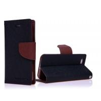 Чехол портмоне подставка на силиконовой основе с защелкой для ASUS Zenfone 2 Laser 5 ZE500KL Черный