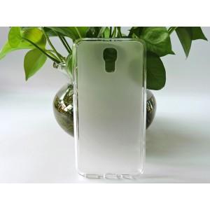 Силиконовый матовый полупрозрачный чехол для LG X view Белый