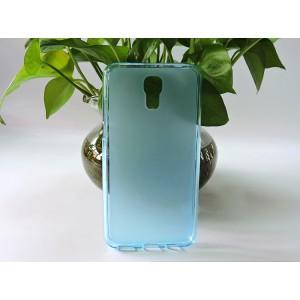 Силиконовый матовый полупрозрачный чехол для LG X view Голубой