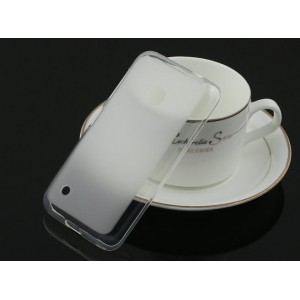 Полупрозрачный силиконовый чехол для Nokia Lumia 530 Белый