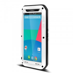 Антиударный пылевлагозащищенный премиум чехол металл/силикон/поликарбонат для Google Nexus 6