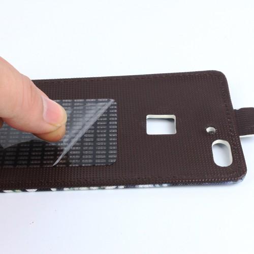 Чехол вертикальная книжка на клеевой основе с магнитной застежкой и полноповерхностным принтом для Umi Iron Pro