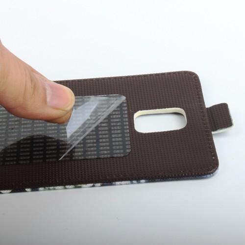 Чехол вертикальная книжка на клеевой основе с магнитной застежкой и полноповерхностным принтом для Umi Rome (X)