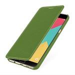 Кожаный чехол горизонтальная книжка (нат. кожа) для Samsung Galaxy A9
