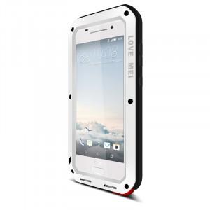 Антиударный пылевлагозащищенный премиум чехол металл/силикон/поликарбонат для HTC One A9