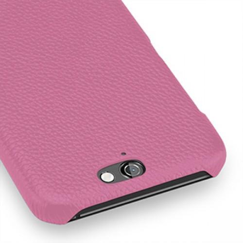 Кожаный чехол накладка (нат. кожа) для HTC One A9