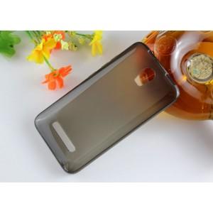 Силиконовый матовый полупрозрачный чехол для Micromax Bolt Q335 Серый