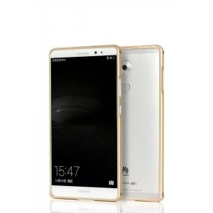 Металлический бампер для Huawei Mate 8 Бежевый