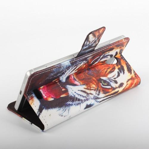 Чехол портмоне подставка на клеевой основе с магнитной застежкой и полноповерхностным принтом для Oukitel K4000