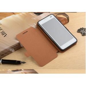 Чехол флип подставка на силиконовой основе текстура Дерево для Oukitel K4000
