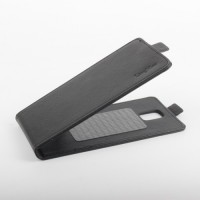 Клеевой чехол вертикальная книжка с магнитной застежкой для ZTE Blade L4 Черный