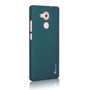 Пластиковый матовый непрозрачный чехол повышенной шероховатости для Huawei Mate 8 Зеленый
