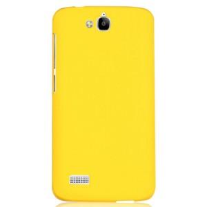 Пластиковый матовый непрозрачный чехол для Huawei Honor 3C Lite Желтый