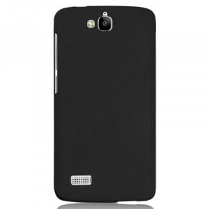 Пластиковый матовый непрозрачный чехол для Huawei Honor 3C Lite Черный