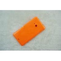 Оригинальный встраиваемый пластиковый матовый непрозрачный чехол для Microsoft Lumia 535 Оранжевый