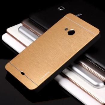 Антиударный гибридный пластиковый чехол текстура Металлик для Microsoft Lumia 535