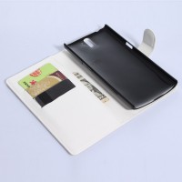 Чехол портмоне подставка с защелкой для OnePlus One Белый