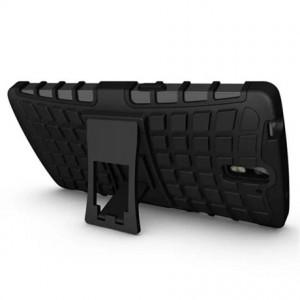 Антиударный гибридный силиконовый чехол с поликарбонатной крышкой для OnePlus One Черный