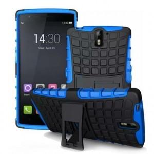 Антиударный гибридный силиконовый чехол с поликарбонатной крышкой для OnePlus One Синий