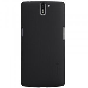 Пластиковый матовый нескользящий премиум чехол для OnePlus One Черный
