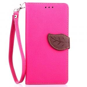 Текстурный чехол портмоне подставка на силиконовой основе с дизайнерской застежкой для OnePlus One Розовый