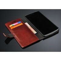 Глянцевый чехол портмоне подставка с защелкой для OnePlus One