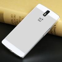 Двухкомпонентный чехол с металлическим бампером и поликарбонатной накладкой для OnePlus One Белый