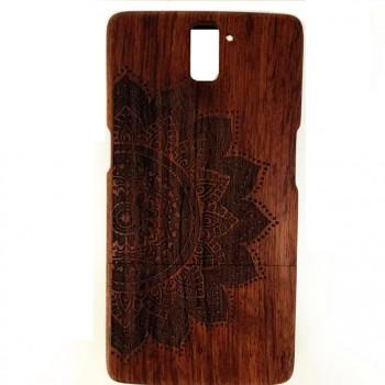 Натуральный деревянный разборный чехол с лазерным принтом для OnePlus One