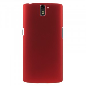 Пластиковый матовый непрозрачный чехол для OnePlus One Красный