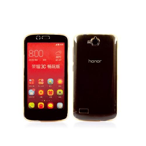 Двухмодульный силиконовый чехол горизонтальная книжка с транспарентной акриловой смарт крышкой для Huawei Honor 3C Lite