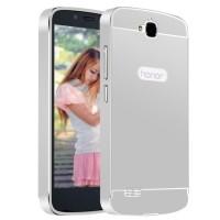 Двухкомпонентный чехол с металлическим бампером и поликарбонатной накладкой для Huawei Honor 3C Lite Белый