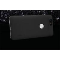 Пластиковый матовый нескользящий премиум чехол для Google Huawei Nexus 6P Черный
